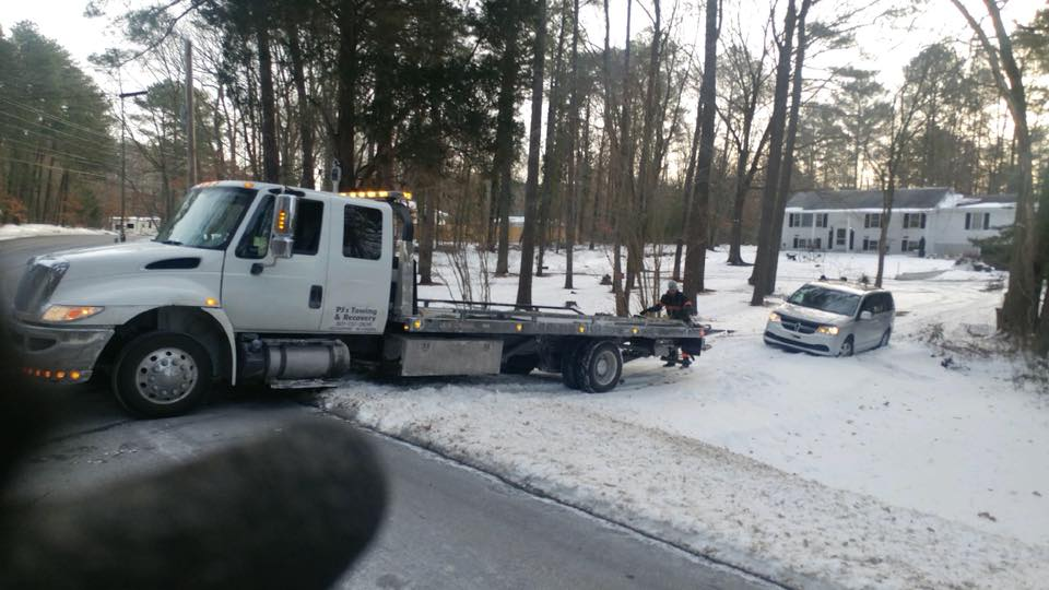 Snow Towing in Southern Maryland